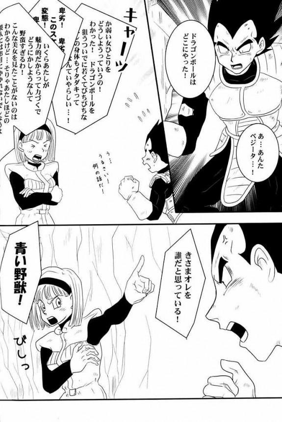 【ドラゴンボール エロ同人・エロ漫画】盗賊ブルマがベジータに捕まり乳とパンツ見せてエロい事しちゃってるよwwwwwwww 051