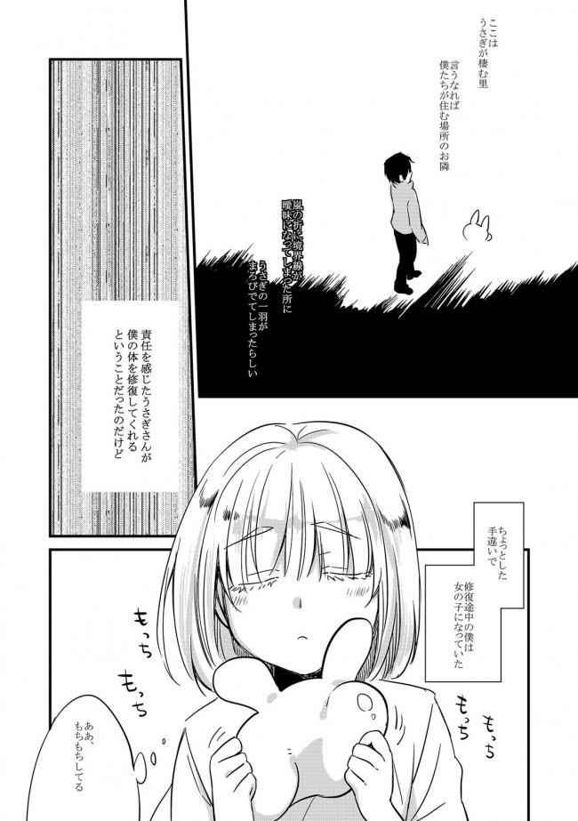 うさぎの世界で女の子に変わってセックスしちゃうw【エロ漫画・エロ同人】 (10)
