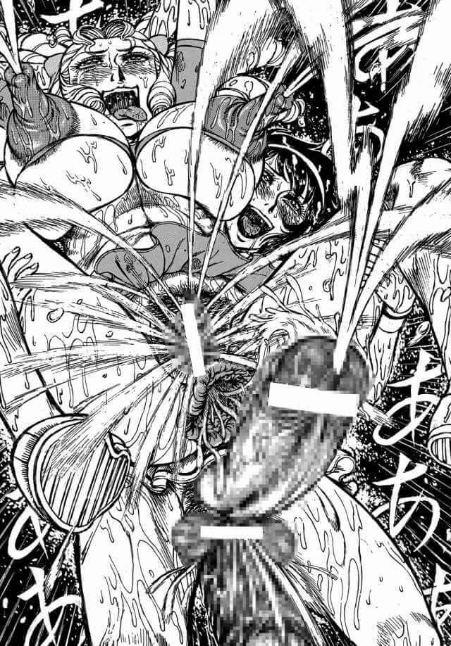 【エースをねらえ! エロ同人】ペニス部の岡ひろみが拘束されて音羽京子に極太ツインぺ二バンドリルでマンコもアナルもガバガバにされたり、ペニスを敷き詰められたコートで緑川蘭子を対決!!勝利するも獣姦されてフタナリに…!? (44)