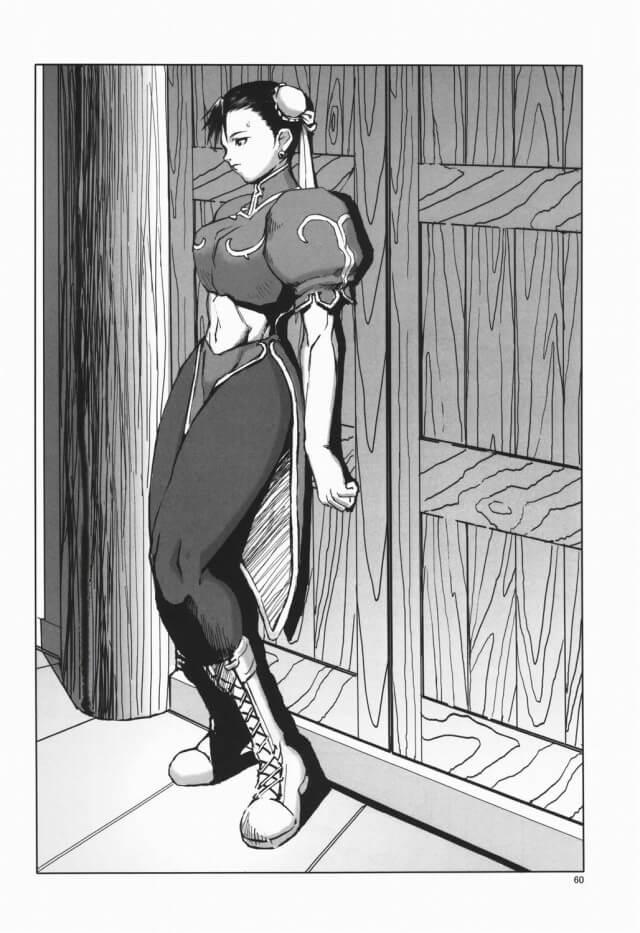 【エロ同人誌 ストリートファイター】春麗がバルログやバイソンに目隠し・手枷・足枷されて開発調教されちゃう!【半死半生 エロ漫画】 (29)