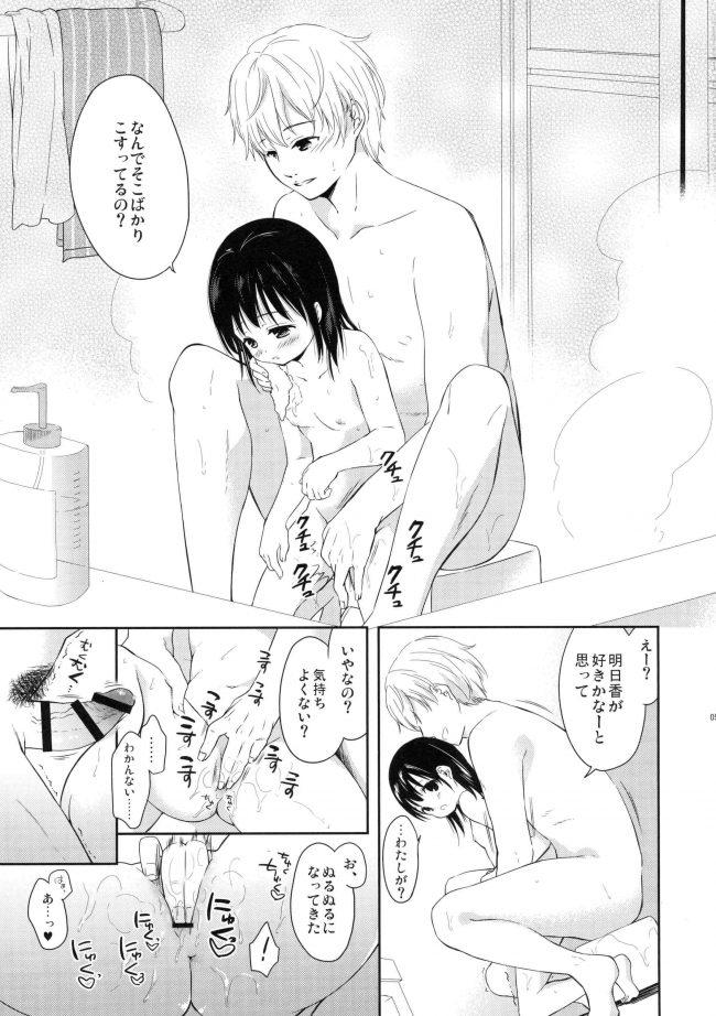 【エロ同人誌】兄妹仲良く一緒にお風呂に入って洗いっこするんだけど普通に洗いっこじゃないw【MAPLER エロ漫画】 (4)
