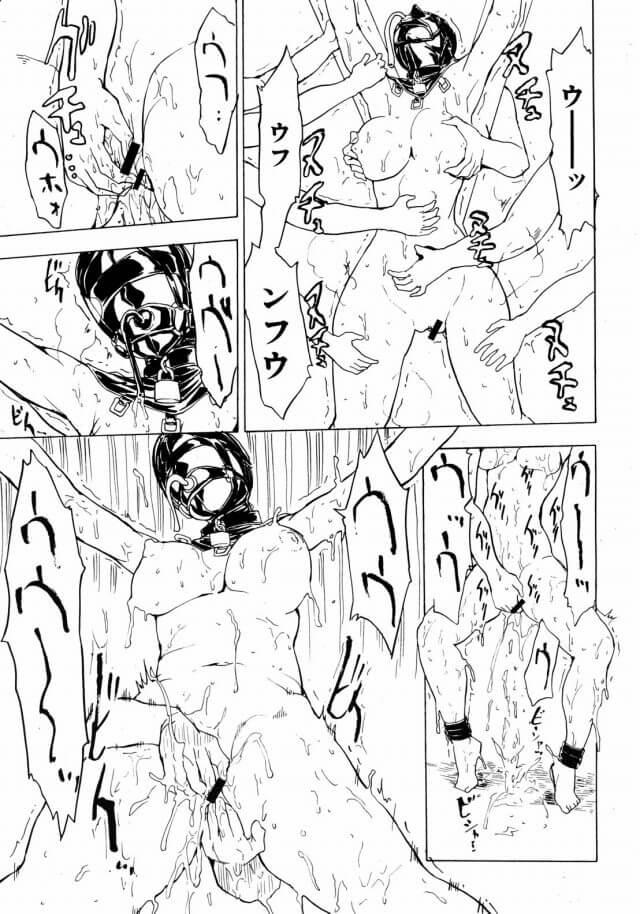 【エロ漫画】女性を使ったマニアックな人体実験!!ガラスの部屋に監禁したり性的な調教をする!!【墓場 エロ同人】 (13)