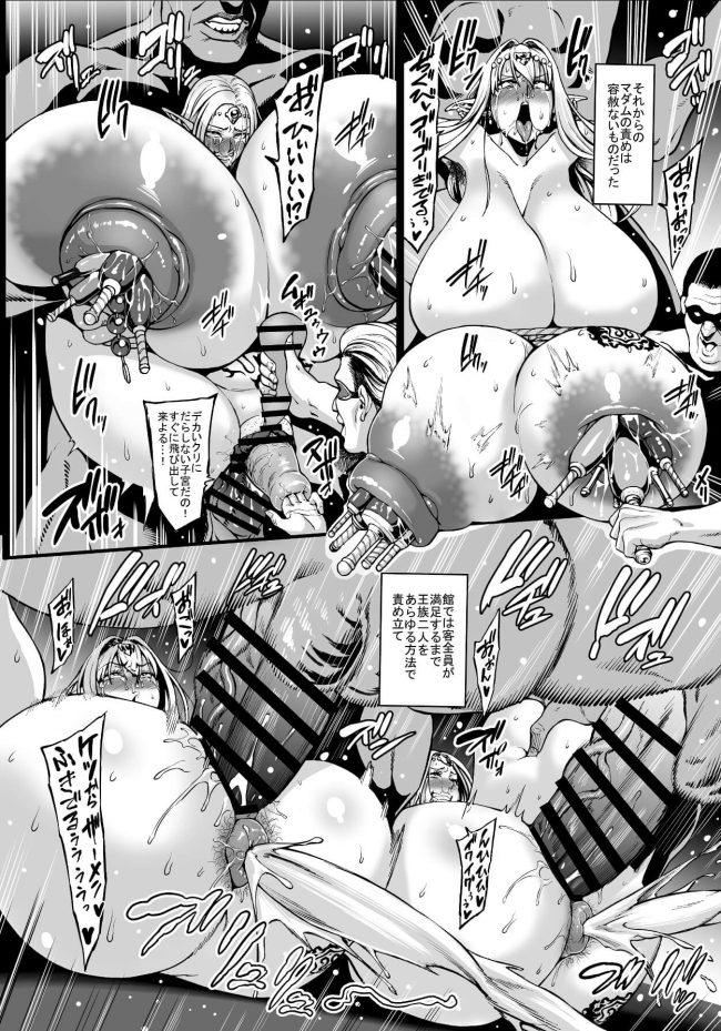【エロ同人誌】国を乗っ取られたエルフ国の妃と姫が獣姦や異種姦でボテ腹妊娠wwww【青豆腐 エロ漫画】 (15)