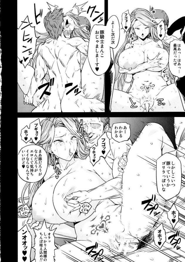 【エロ同人 グラブル】モニカやカタリナ・アリゼたちが雌豚扱いされて腹ボコファックされたりニプルファックされてるぞw【無料 エロ漫画】 (33)
