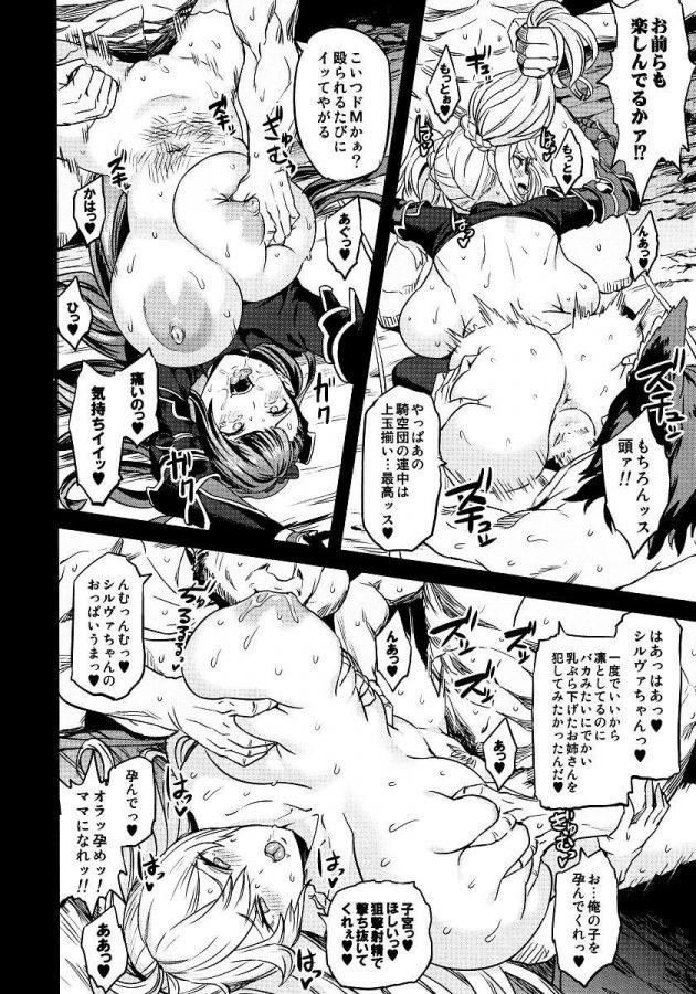 【エロ同人 グラブル】モニカやカタリナ・アリゼたちが雌豚扱いされて腹ボコファックされたりニプルファックされてるぞw【無料 エロ漫画】 (25)
