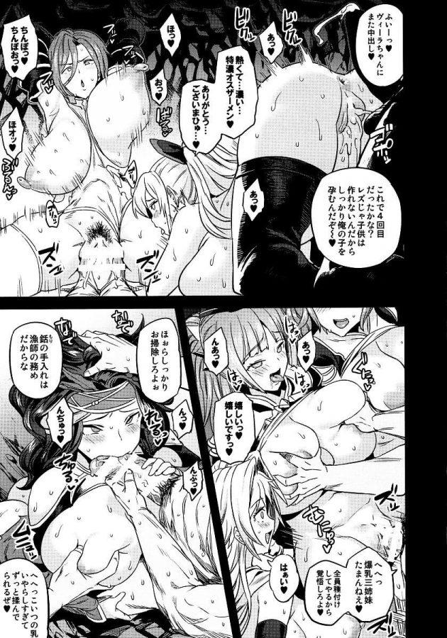 【エロ同人 グラブル】モニカやカタリナ・アリゼたちが雌豚扱いされて腹ボコファックされたりニプルファックされてるぞw【無料 エロ漫画】 (26)
