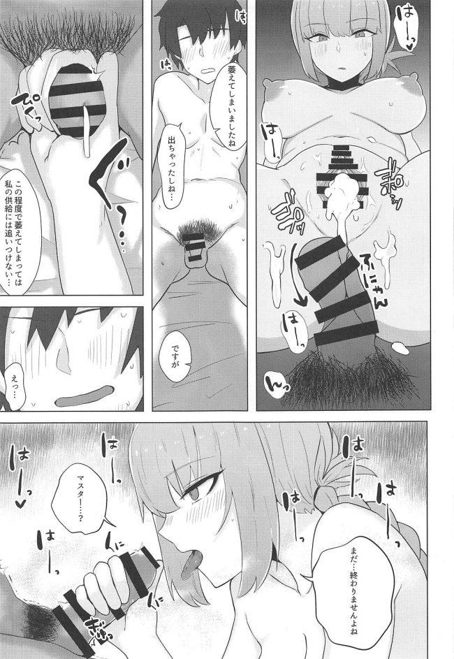 【エロ同人 FGO】過激水着を着たマシュが性欲の治まらないマスターを性処理しちゃう♪【無料 エロ漫画】 (14)